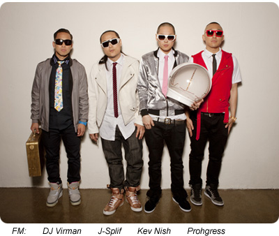 Left to right: DJ Virman, J-Splif, Kev Nish, Prohgress